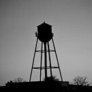 Detroit Water Tower in Black and White  by Michelle BarlondSmith