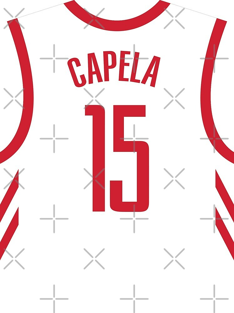 huge selection of ddbe2 81c35 Clint Capela White Rockets Jersey