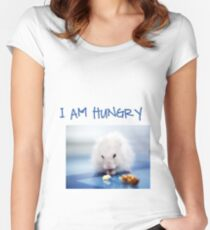 I am hungry Women's Fitted Scoop T-Shirt
