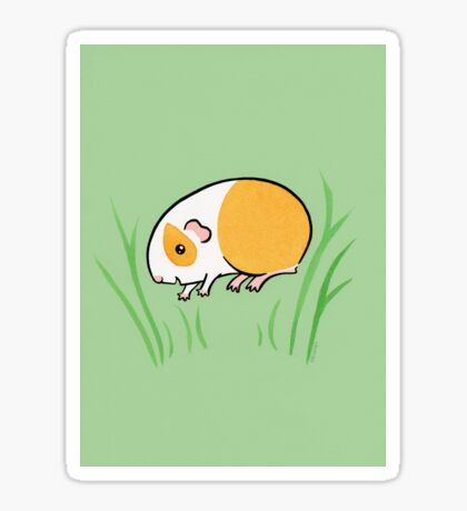 Joyful Jumping Popcorning Guinea pig! Sticker