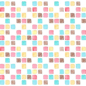 watercolor colourful square pattern by pixelcookie