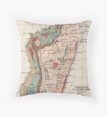 Vintage Geological Map of Madagascar (1922) Floor Pillow