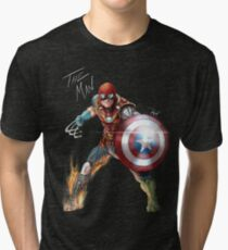 One with his universe.  Tri-blend T-Shirt
