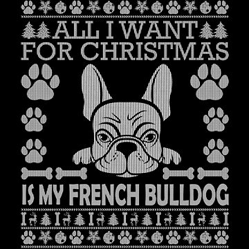 Christmas French Bulldog Sweater Ugly Christmas Sweaters Xmas Frenchie T Shirt by Joeby26