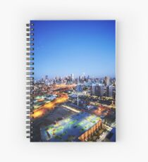 Melbourne Night Scape Spiral Notebook