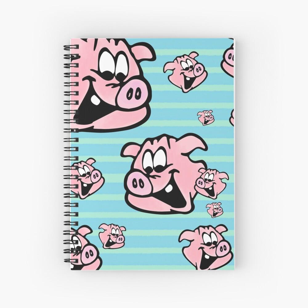 Lachende Schweine  Spiralblock