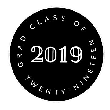 seniors 2019 Seal - Sticker and t shirts by MelanixStyles