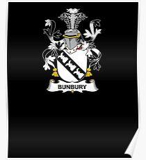 Póster Escudo de armas de Bunbury - camisa de la cresta de la familia