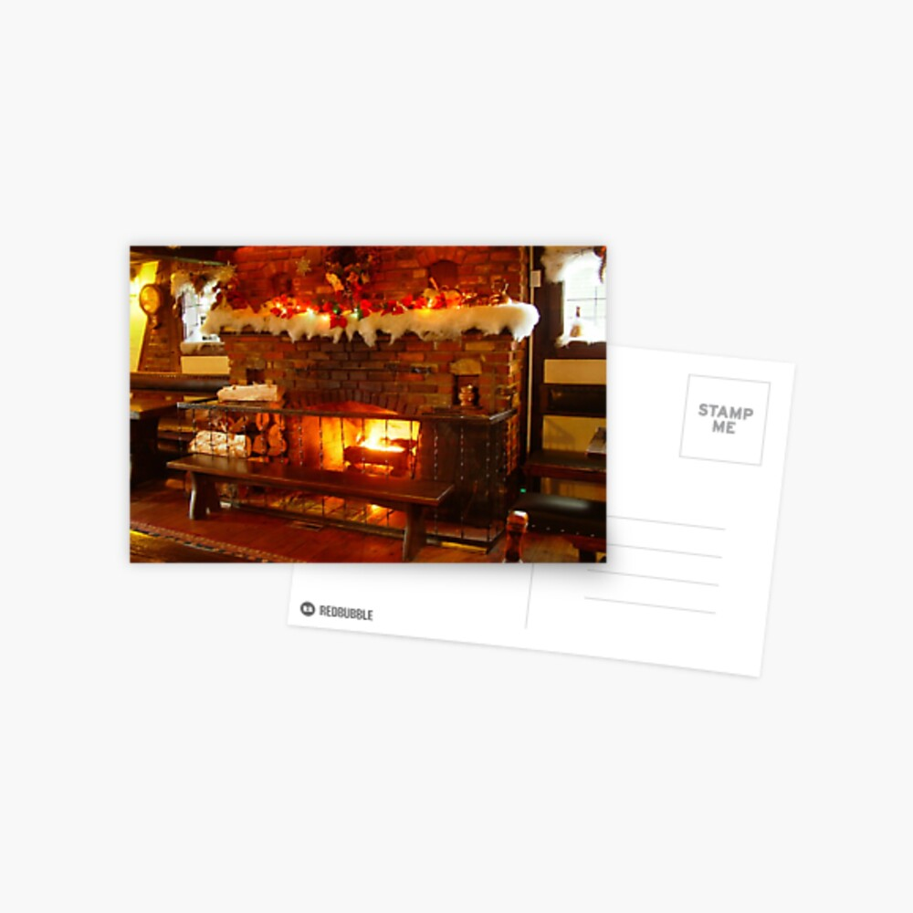 Fireside Glühen Postkarte