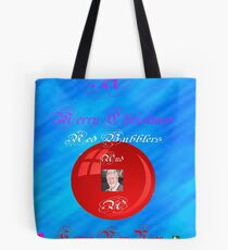 A Merry Christmas Red Bubblers Tote Bag
