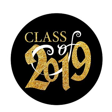 SENIORS - 2019 - T SHIRT - STICKER - GOLD AND BLACK by MelanixStyles