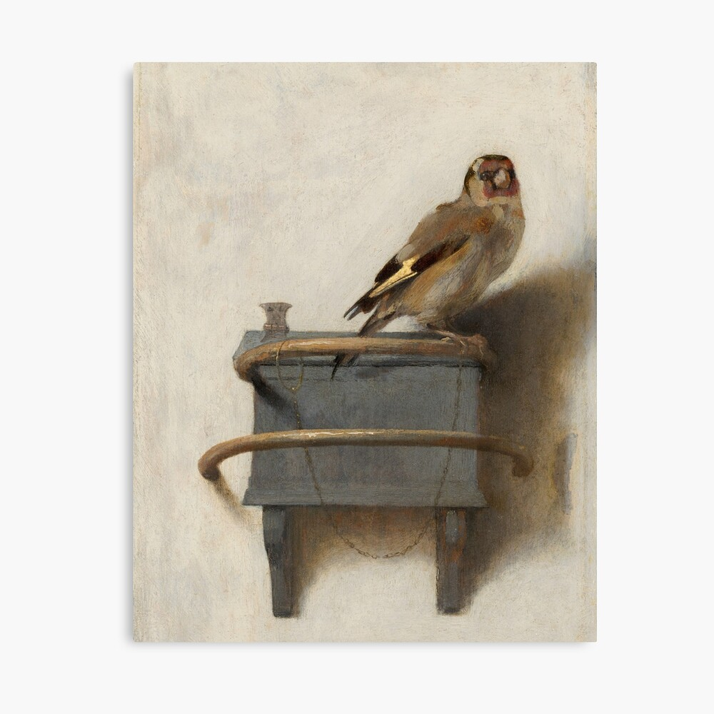 The Goldfinch by Carel Fabritius Canvas Print
