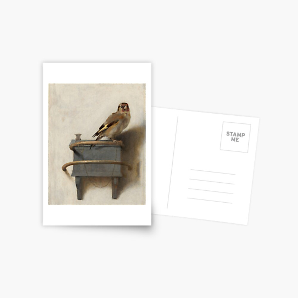 The Goldfinch by Carel Fabritius Postcard