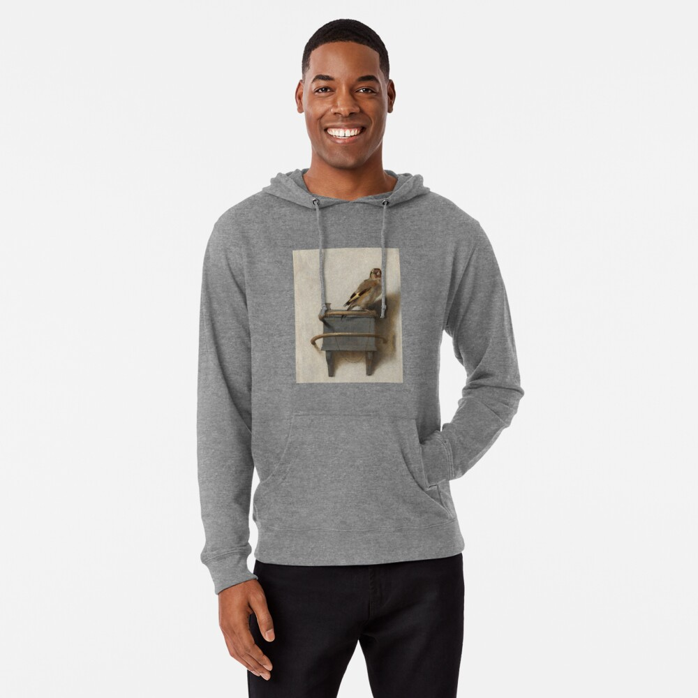 The Goldfinch by Carel Fabritius Lightweight Hoodie