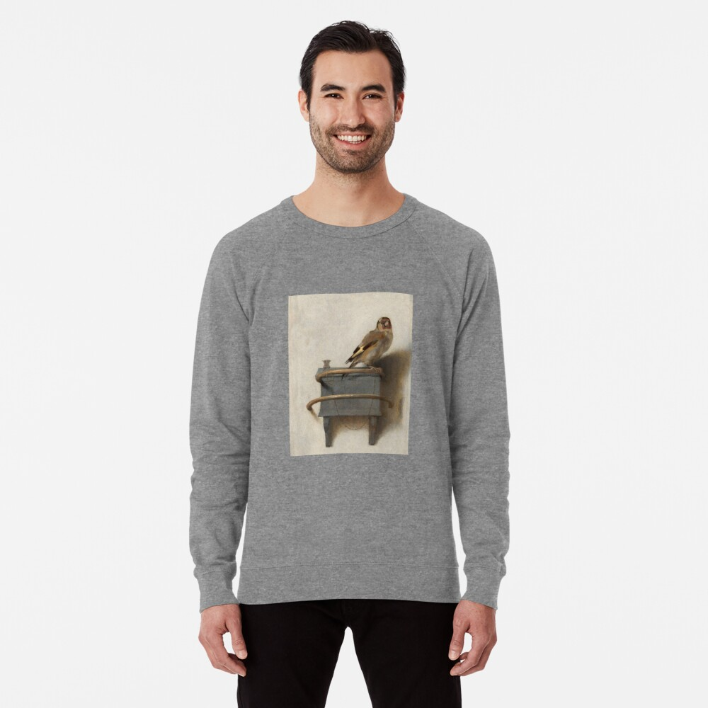 The Goldfinch by Carel Fabritius Lightweight Sweatshirt