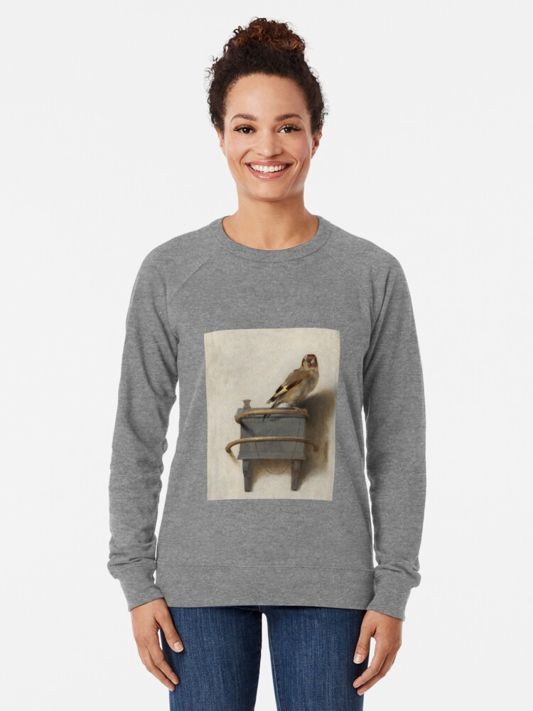Alternate view of The Goldfinch by Carel Fabritius Lightweight Sweatshirt