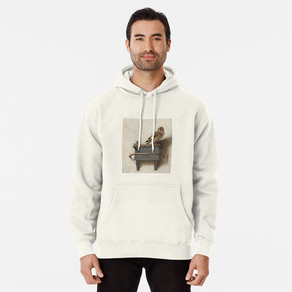 The Goldfinch by Carel Fabritius Pullover Hoodie