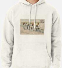 Sudadera con capucha Ilustración de carrera ciclista vintage (1894)