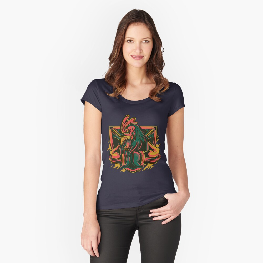 tap Women's Fitted Scoop T-Shirt Front