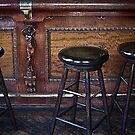"""Three stools walk into a bar ..."" by Bruce  Dickson"