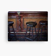 """Three stools walk into a bar ..."" Canvas Print"