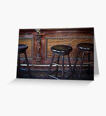 """Three stools walk into a bar ..."" Greeting Card"