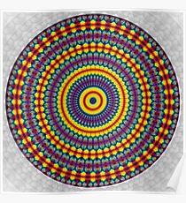 Phatpuppy Retro Texture Mandala 2 Poster