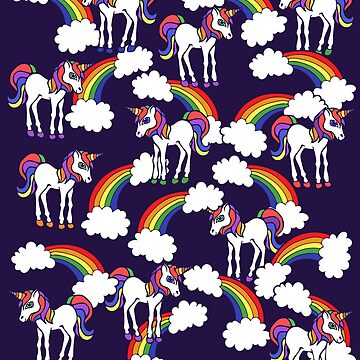 Rainbow Unicorns Pattern by Boogiemonst
