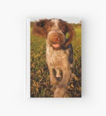 Brown Roan Italian Spinone Puppy Dog In Action Hardcover Journal