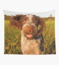 Brown Roan Italian Spinone Puppy Dog In Action Wall Tapestry