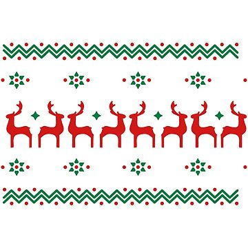 9 Poinsettia pattern and reindeer pattern  - Eco-Friendly Cotton  by teerich