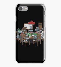 Robot Dogs Playing Poker iPhone Case/Skin