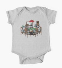 Robot Dogs Playing Poker One Piece - Short Sleeve
