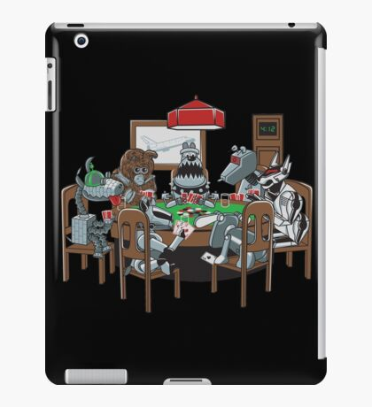 Robot Dogs Playing Poker iPad Case/Skin
