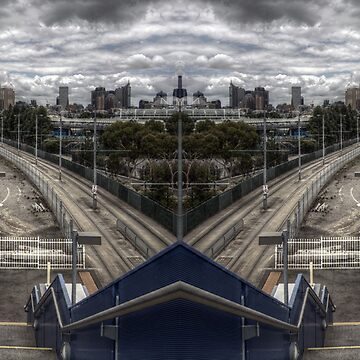 city train mirrored HDR panorama by giveaphuk