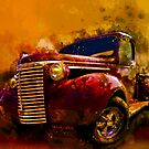 39 Chev Pickup Watercolor Acid Sky by ChasSinklier