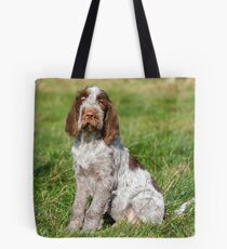 Brown Roan Italian Spinone Puppies Tote Bag