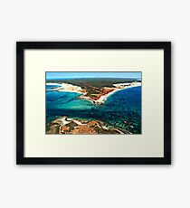 Cape Leveque from above Framed Print