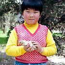Girl with a bird by Joozu