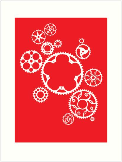 Meshing Gears (red) by Xander Ashwell