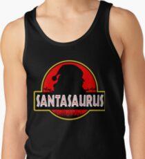 Christmas Jurassic Park Santasaurus Tank Top