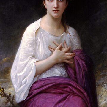 Psyche - William Adolphe Bouguereau  by forgottenbeauty