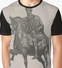 Vintage Marcus Aurelius Statue Illustration (1889) Graphic T-Shirt