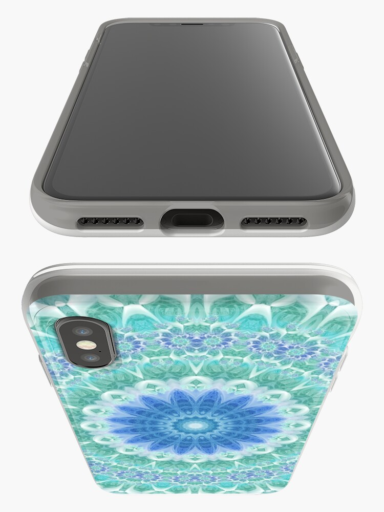 Alternate view of Blue and Turquoise Mandala iPhone Cases & Covers