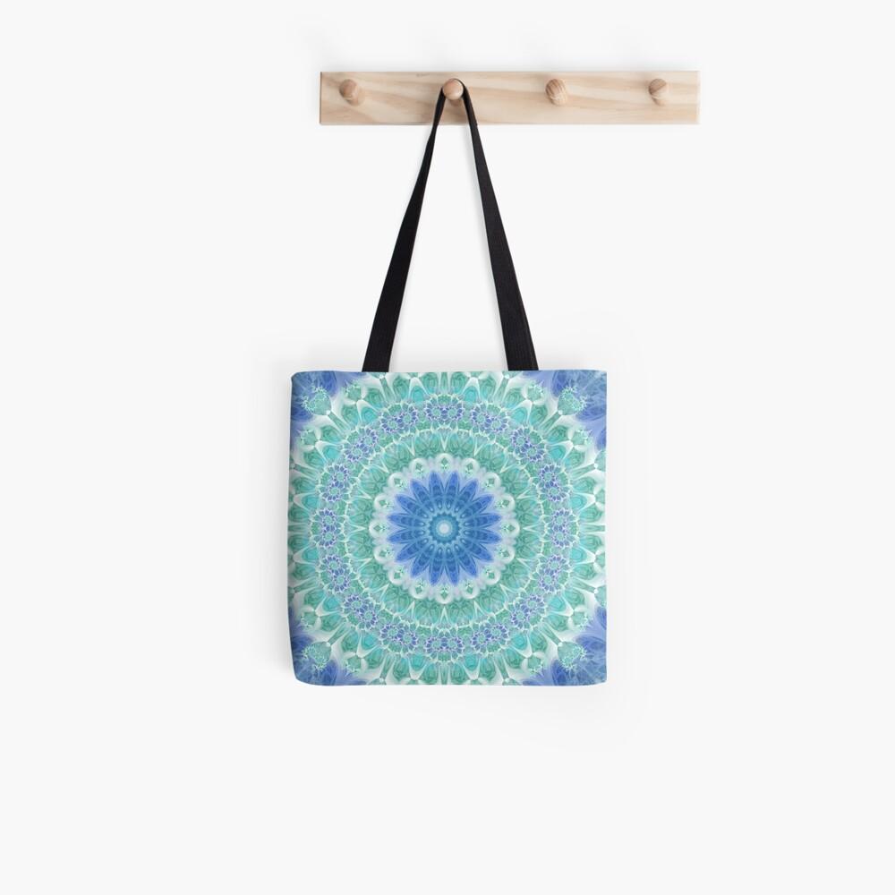 Blue and Turquoise Mandala Tote Bag