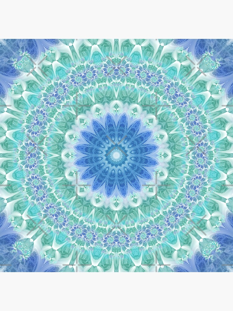 Blue and Turquoise Mandala by kellydietrich