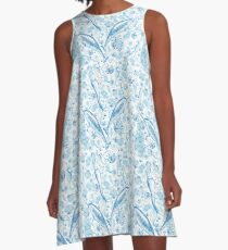 Mermaid Toile - Blue A-Line Dress
