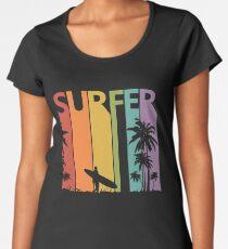 Vintage Retro Surfing Surfer Gift  Women's Premium T-Shirt