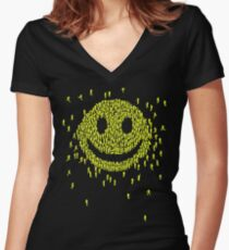 Happy Crowd Women's Fitted V-Neck T-Shirt