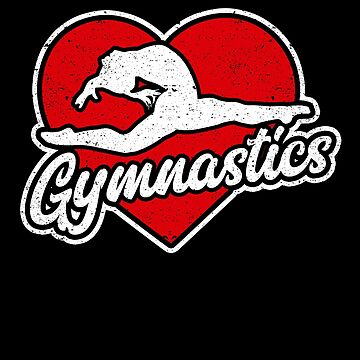 Love Gymnastics Heart Sport Practice Gift Bend Flip by kieranight